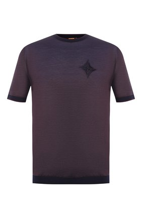 Мужская футболка из смеси шелка и хлопка ZILLI коричневого цвета, арт. MER-NT200-0XF01/MC01   Фото 1