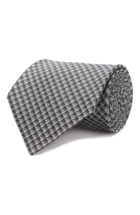 Мужской шелковый галстук TOM FORD серого цвета, арт. 5TF06/XT0 | Фото 1