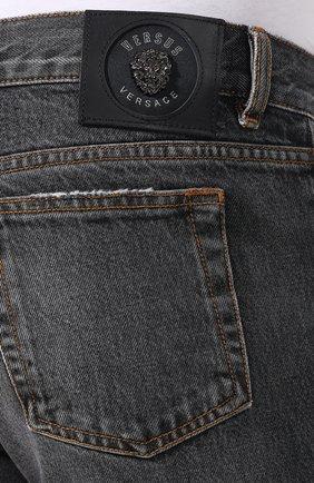Джинсы прямого кроя Versus Versace серые | Фото №5
