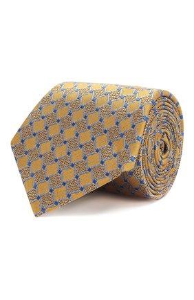 Мужской шелковый галстук CANALI желтого цвета, арт. 18/HJ02032 | Фото 1