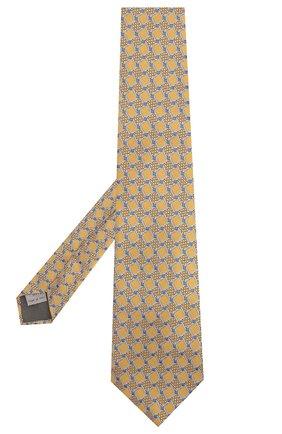 Мужской шелковый галстук CANALI желтого цвета, арт. 18/HJ02032 | Фото 2