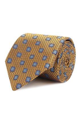 Мужской шелковый галстук CANALI желтого цвета, арт. 18/HJ02028 | Фото 1