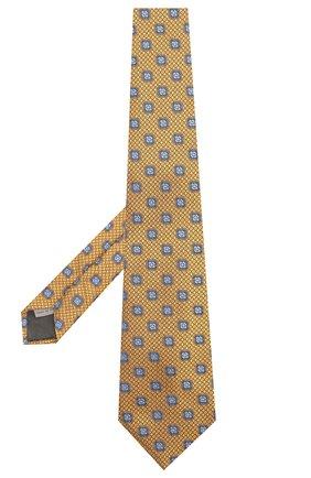 Мужской шелковый галстук CANALI желтого цвета, арт. 18/HJ02028 | Фото 2