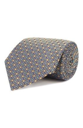 Мужской шелковый галстук CANALI желтого цвета, арт. 18/HJ02026 | Фото 1