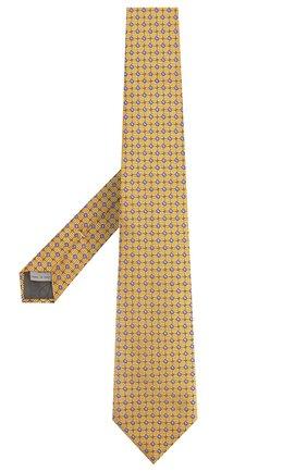 Мужской шелковый галстук CANALI желтого цвета, арт. 18/HJ02024 | Фото 2