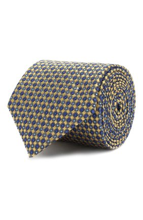Мужской шелковый галстук CANALI желтого цвета, арт. 18/HJ02020 | Фото 1