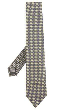 Мужской шелковый галстук CANALI желтого цвета, арт. 18/HJ02020 | Фото 2