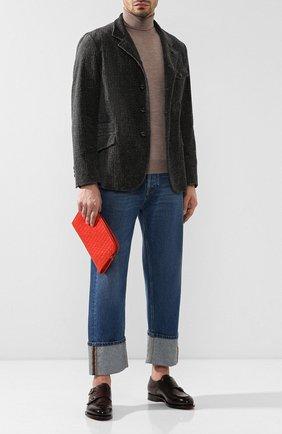 Мужская кожаная папка для бумаг с плетением intrecciato BOTTEGA VENETA красного цвета, арт. 493190/V4651 | Фото 2