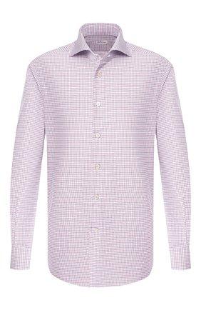 Мужская хлопковая рубашка KITON разноцветного цвета, арт. UCIH0692710 | Фото 1