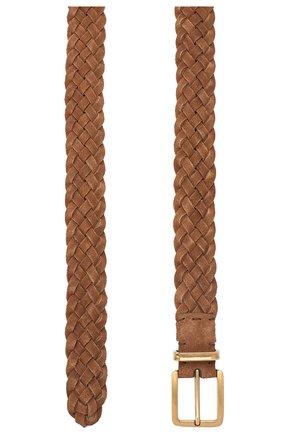 Мужской кожаный ремень BRUNELLO CUCINELLI бежевого цвета, арт. MAUGI315 | Фото 2