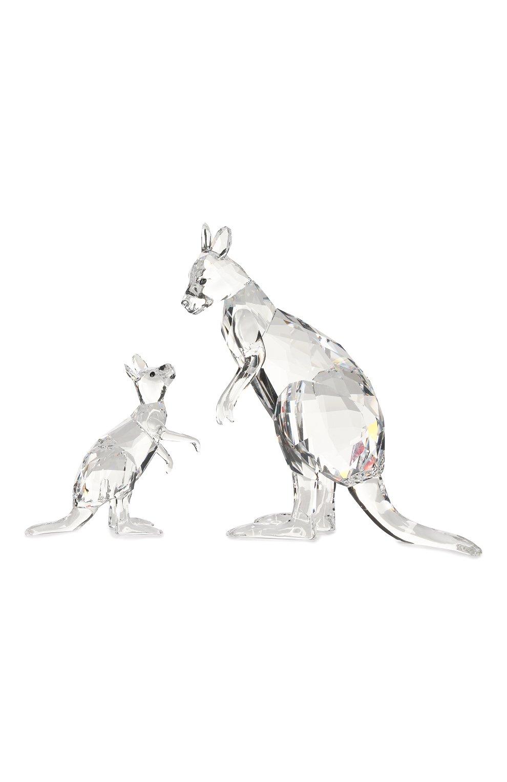 Мужского фигурки kangaroo mother and baby SWAROVSKI прозрачного цвета, арт. 5428563 | Фото 1