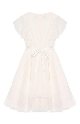 Детское платье с поясом ALETTA белого цвета, арт. AP99026-26CIN/9A-16A | Фото 2