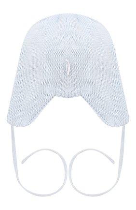 Детского хлопковая шапка IL TRENINO голубого цвета, арт. 19 7880/E0 | Фото 2
