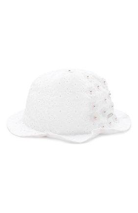Детская соломенная шляпа IL TRENINO белого цвета, арт. 19 8328/E0 | Фото 1
