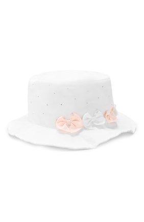 Детская хлопковая шляпа IL TRENINO белого цвета, арт. 19 8330/E0 | Фото 1