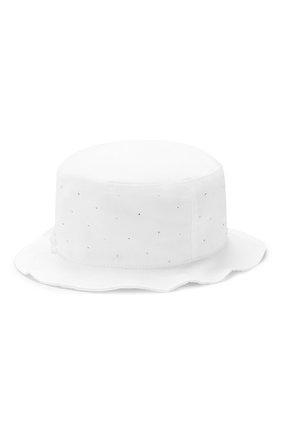 Детская хлопковая шляпа IL TRENINO белого цвета, арт. 19 8330/E0 | Фото 2