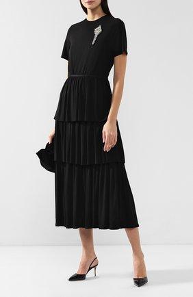 Женская лаковые туфли godiva SERGIO ROSSI черного цвета, арт. A73273-MVIV01 | Фото 2