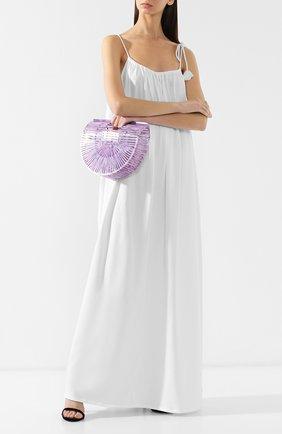 Женская сумка ark small CULT GAIA фиолетового цвета, арт. 20003ACC LAV   Фото 2 (Размер: small; Сумки-технические: Сумки top-handle; Статус проверки: Проверена категория; Материал: Текстиль)