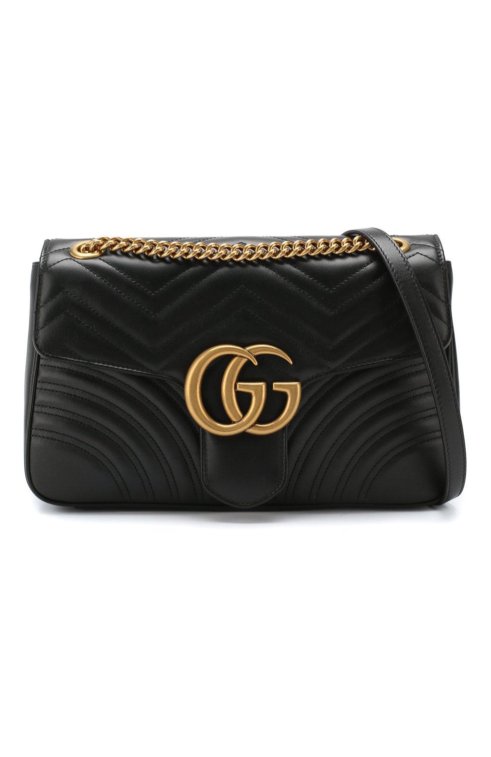 1dff7f125f1a Женская сумка gg marmont medium GUCCI черная цвета — купить за ...