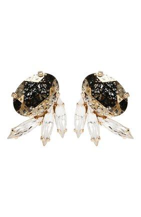 Серьги с отделкой кристаллами Swarovski | Фото №1