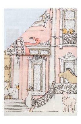 Детского хлопковый пододеяльник ATELIER CHOUX белого цвета, арт. DUVET C0VER M0NCEAU MANSI0N | Фото 1