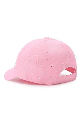 Детская хлопковая бейсболка IL TRENINO розового цвета, арт. 19 8409/E4 | Фото 2