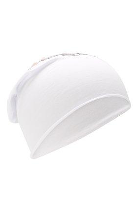 Детского хлопковая шапка IL TRENINO белого цвета, арт. 19 8510/E0 | Фото 1