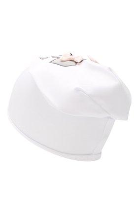 Детского хлопковая шапка IL TRENINO белого цвета, арт. 19 8510/E0 | Фото 2