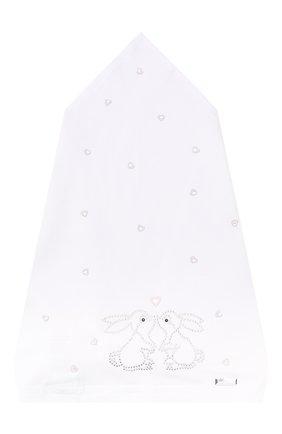 Детская хлопковая бандана IL TRENINO белого цвета, арт. 19 8529/E0 | Фото 1