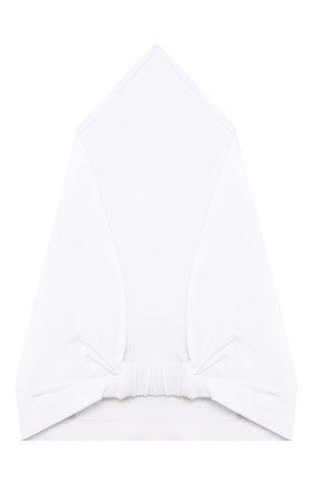 Детская хлопковая бандана IL TRENINO белого цвета, арт. 19 8529/E0 | Фото 2