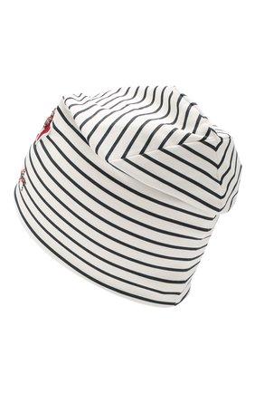 Детского хлопковая шапка IL TRENINO белого цвета, арт. 19 8535/E8 | Фото 2
