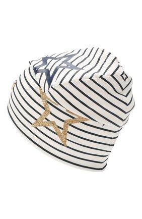 Детского хлопковая шапка IL TRENINO белого цвета, арт. 19 8535/FD | Фото 2