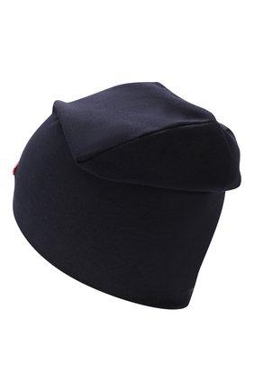 Детского хлопковая шапка IL TRENINO синего цвета, арт. 19 8561/E0 | Фото 2