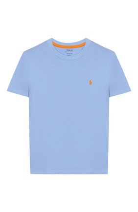 Детская хлопковая футболка POLO RALPH LAUREN голубого цвета, арт. 323703638 | Фото 1