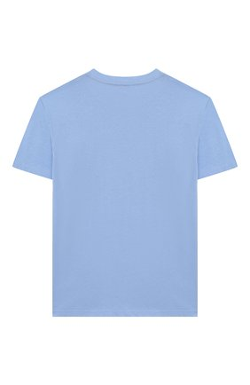 Детская хлопковая футболка POLO RALPH LAUREN голубого цвета, арт. 323703638 | Фото 2