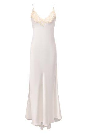 Женская шелковая сорочка LA PERLA белого цвета, арт. 0019226 | Фото 1