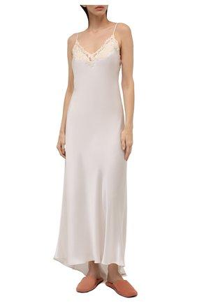 Женская шелковая сорочка LA PERLA белого цвета, арт. 0019226 | Фото 2