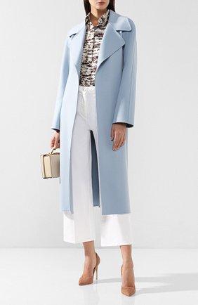 Женское кашемировое пальто RALPH LAUREN голубого цвета, арт. 290739612 | Фото 2