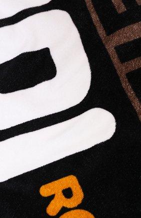 Женское хлопковое полотенце FENDI черного цвета, арт. FXA538 A6MJ | Фото 2