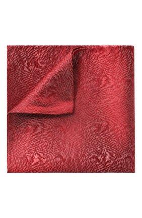 Мужской шелковый платок GIORGIO ARMANI красного цвета, арт. 360023/9P937 | Фото 1