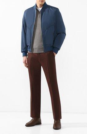 Мужские кожаные ботинки open walk  с внутренней меховой отделкой LORO PIANA коричневого цвета, арт. FAI5538 | Фото 2