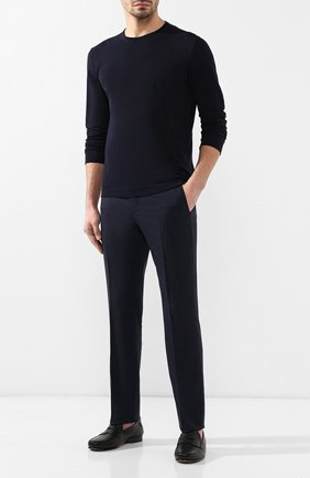 Мужской хлопковый джемпер CORNELIANI темно-синего цвета, арт. 83M515-9125120/00   Фото 2