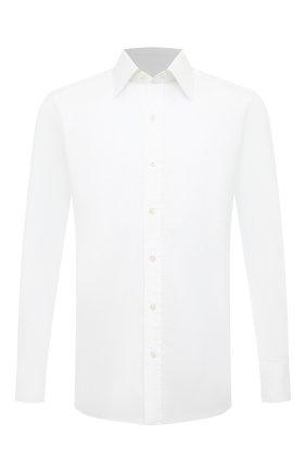 Мужская хлопковая сорочка с воротником кент TOM FORD белого цвета, арт. 5FT190/94C1JE | Фото 1