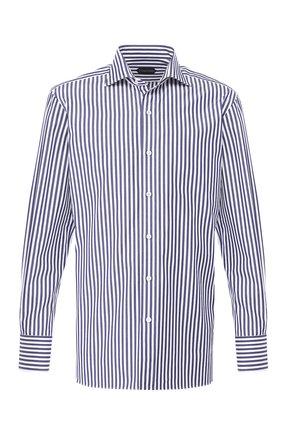 Мужская хлопковая сорочка с воротником кент TOM FORD синего цвета, арт. 5FT228/94C1AX | Фото 1