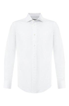 Мужская хлопковая сорочка с воротником кент Z ZEGNA белого цвета, арт. VS240/ZZC01 | Фото 1