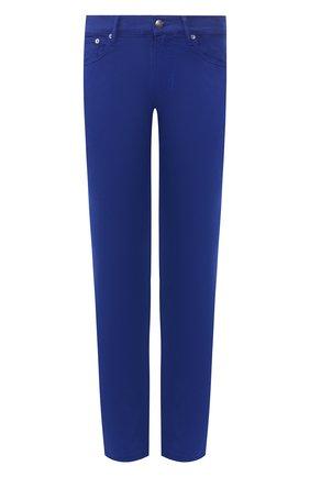 Мужские хлопковые брюки  RALPH LAUREN синего цвета, арт. 790678678 | Фото 1 (Статус проверки: Проверено, Проверена категория; Длина (брюки, джинсы): Стандартные; Материал внешний: Хлопок; Случай: Повседневный)