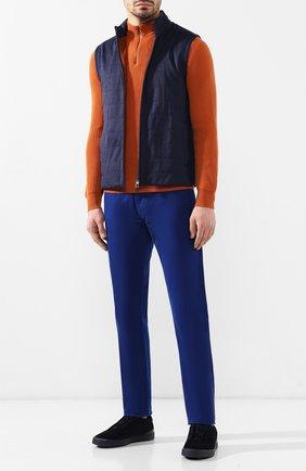 Мужские хлопковые брюки  RALPH LAUREN синего цвета, арт. 790678678 | Фото 2 (Статус проверки: Проверено, Проверена категория; Длина (брюки, джинсы): Стандартные; Материал внешний: Хлопок; Случай: Повседневный)