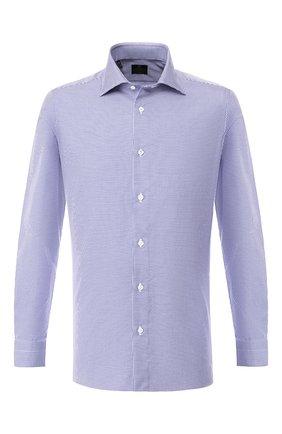 Мужская хлопковая сорочка LUIGI BORRELLI синего цвета, арт. EV08/LUCIAN0/TS10223 | Фото 1