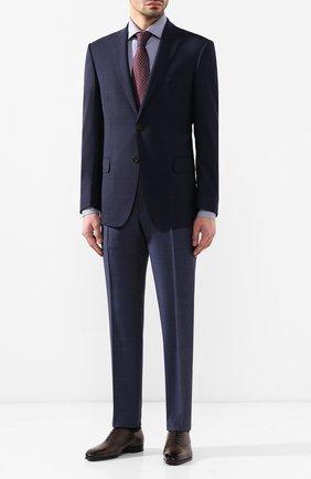 Мужская хлопковая сорочка LUIGI BORRELLI синего цвета, арт. EV08/LUCIAN0/TS10223 | Фото 2