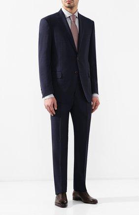 Мужская хлопковая сорочка с воротником кент BRIONI серого цвета, арт. RCL01D/P806G   Фото 2